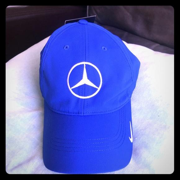 ede6eb156e9b6 NWT- Nike Golf Mercedes Benz blue cap